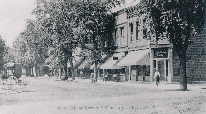 West College Corner, Indiana, and its neighbor and sister city, College Corner, Ohio