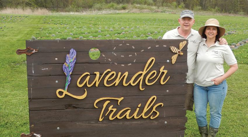 Jim and Amy Duxbury of Lavender Trails
